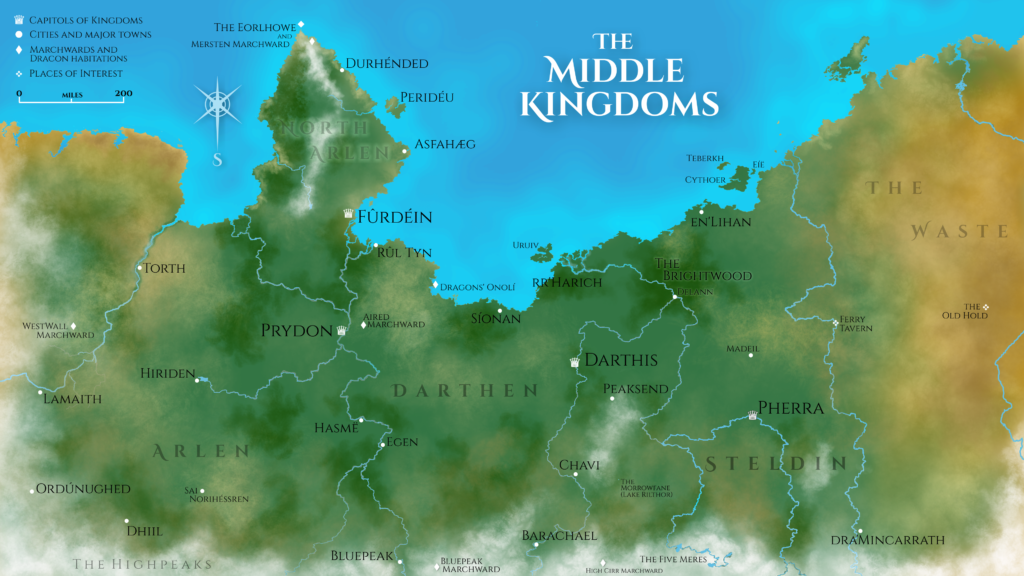 A map of the Middle Kingdoms