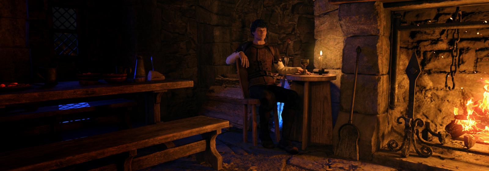 Herewiss awaits his guest