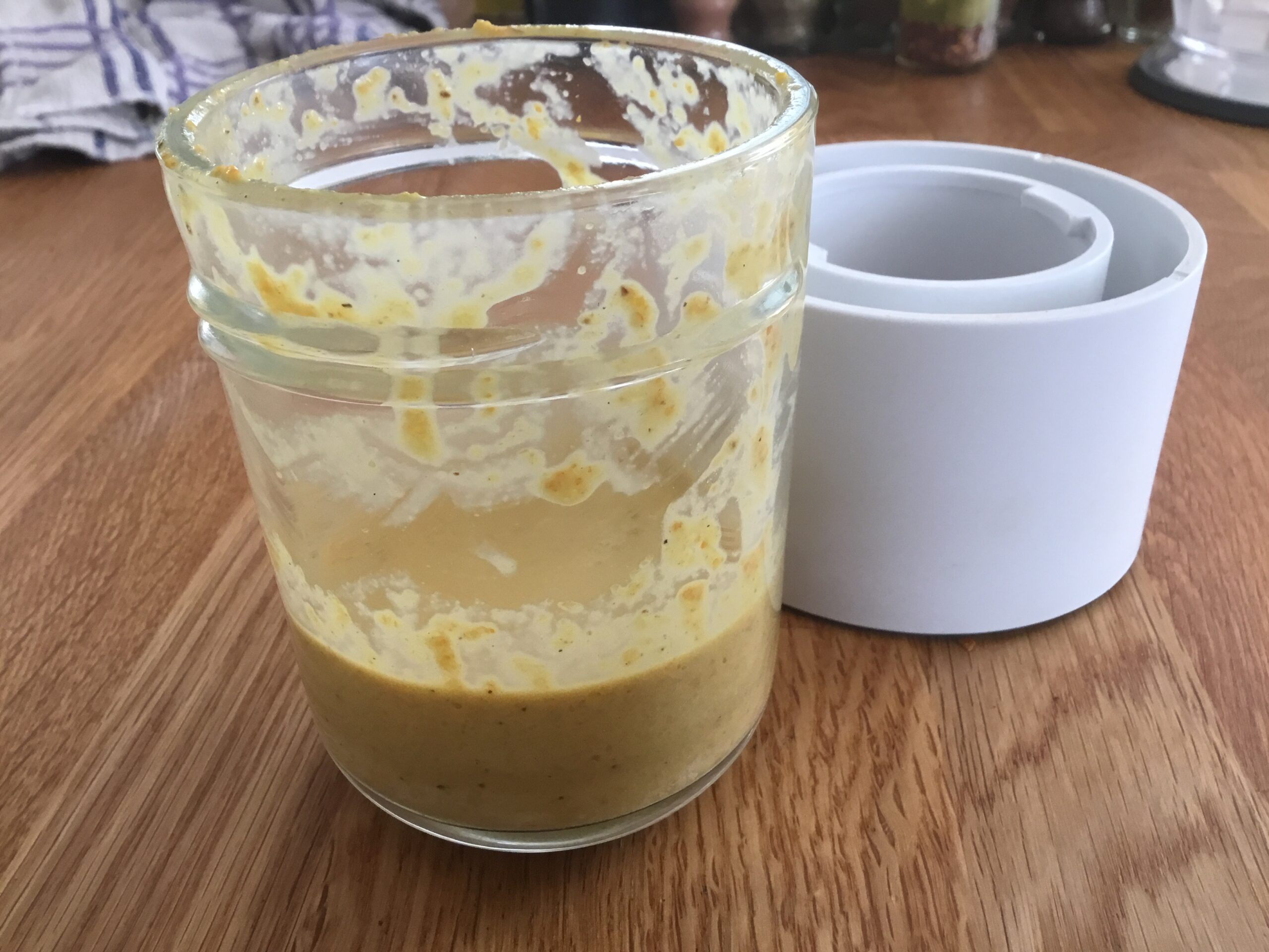 The citrus and spice mixture beaten together with butter